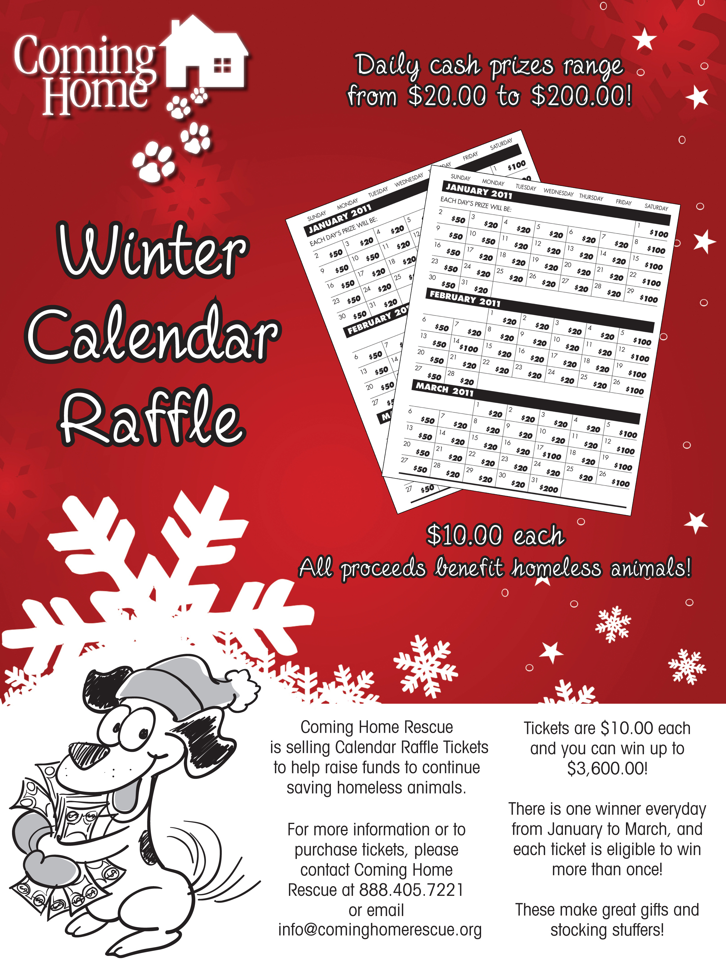 winter raffle poster poppins design advertisements